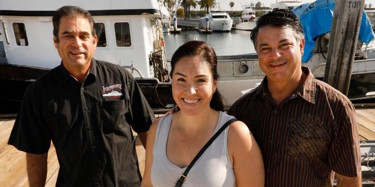 Desiree Rodriguez, Paul Strasser, Mark Pisano, 22nd Street Landing, San Pedro, San Pedro, California, United States - 07 Feb 2021