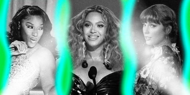 Megan Thee Stallion, Beyonce, Taylor Swift.