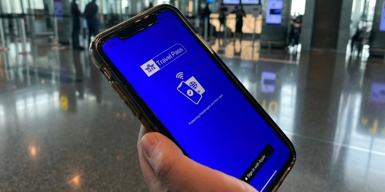 Image: Travel Pass app