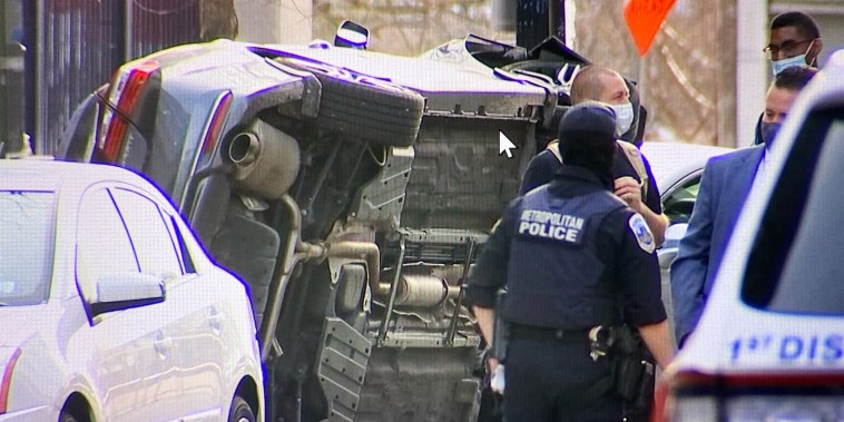 The car reportedly crashed and flipped over near Nats Park, Washington, D.C.