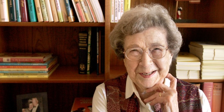 Image: Beverly Cleary at home in Carmel Valley, Calif., in 2006.