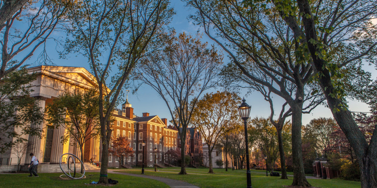Brown University campus in Providence, Rhode Island.