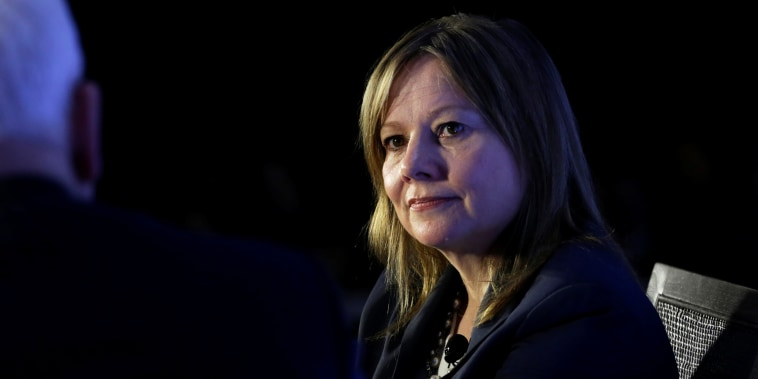 Mary Barra, chairwoman and CEO of General Motors, speaks in Washington on Feb. 28, 2017.