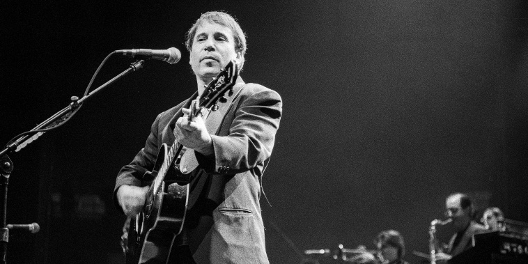 Photo: Paul Simon performing in Philadelphia
