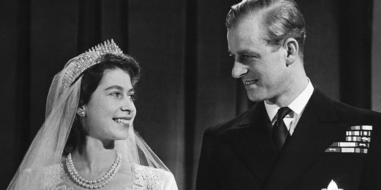 Queen Elizabeth II with her husband Phillip, Duke of Edinburgh