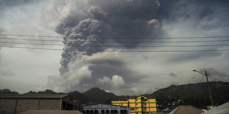 Volcano erupts on Caribbean island of St. Vincent
