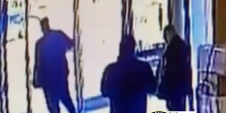 A woman was attacked in front of an apartment building at 360 West 43rd St in Midtown Manhattan on Monday March 29,2021.