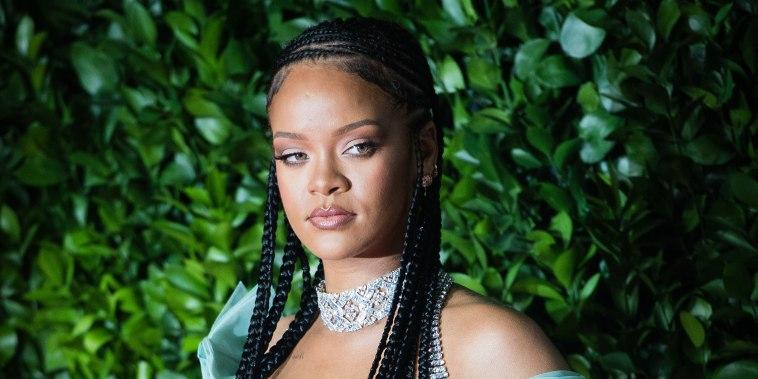 Rihanna arrives at The Fashion Awards 2019 held at Royal Albert Hall on December 02, 2019 in London