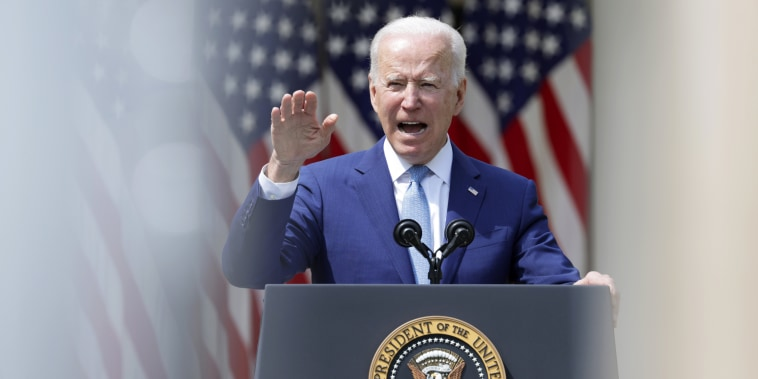 President Joe Biden speaks about gun control in the Rose Garden at the White House on April 8, 2021.