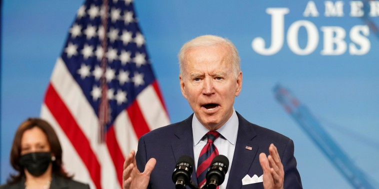 President Joe Biden speaks about jobs and the economy at the White House on April 7, 2021.