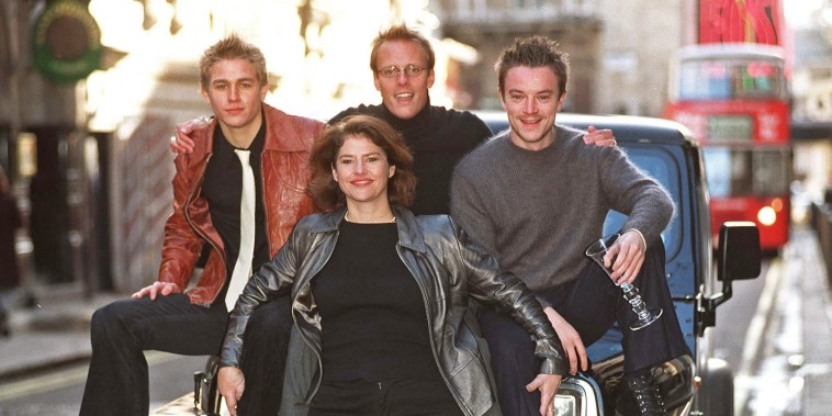 "From left, Craig Kelly, Denise Black, Charlie Hunnam and Anthony Cotton in the British television series ""Queer as Folk.\"""