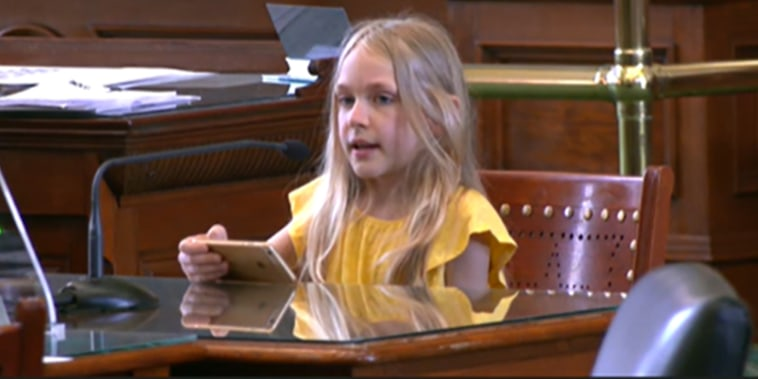 "Speaking before the Senate Committee on State Affairs on Monday, Kai Shappley, a 10-year-old transgender girl from Austin, said Texas legislators have been attacking her since she was in Pre-K. ""I am in fourth grade now,\"" Shappley said. \""When it comes to bills that target trans youth, I immediately feel angry. It's been very scary and overwhelming.\"""