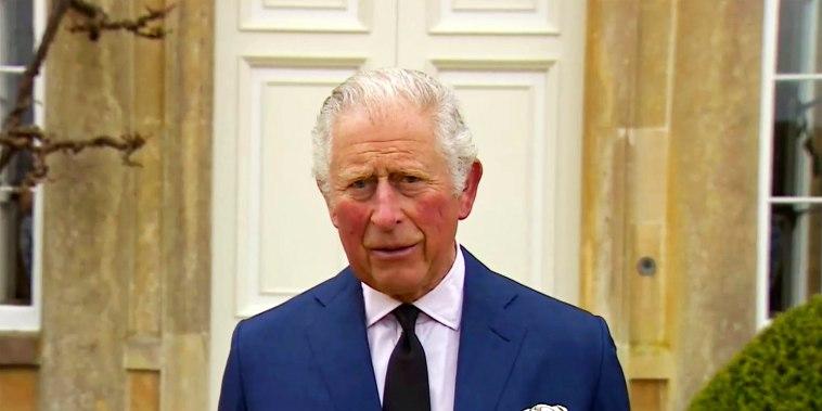 Image: Britain's Prince Charles addresses the media