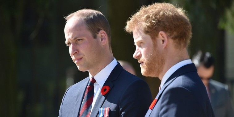 Image: Prince William, Duke of Cambridge and Prince Harry in Arras, northern France, on April 9, 2017
