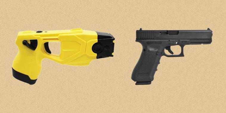 Taser X26P, Glock 17.