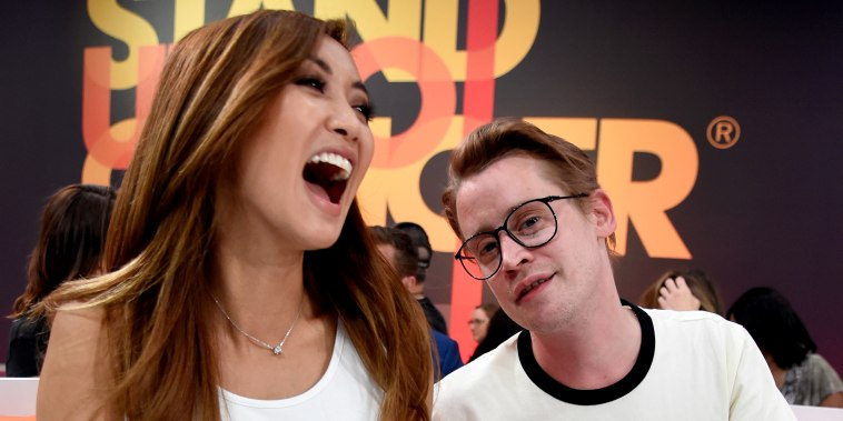 Brenda Song and Macaulay Culkin attend the sixth biennial Stand Up To Cancer (SU2C) telecast on Sept. 7, 2018 in Santa Monica, Calif.