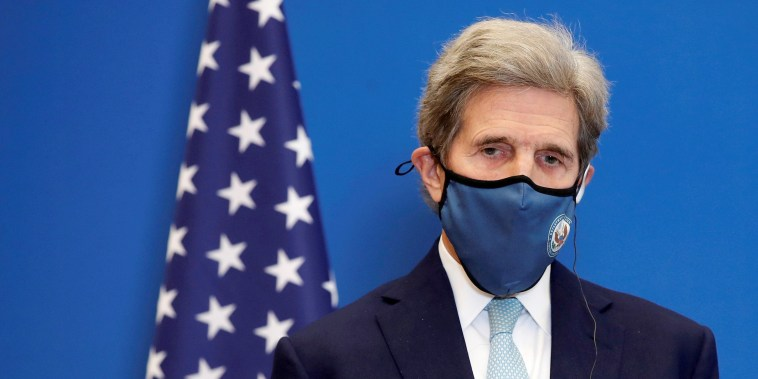 Image: U.S. Special Presidential Envoy for Climate John Kerry attends a news conference in Paris, France