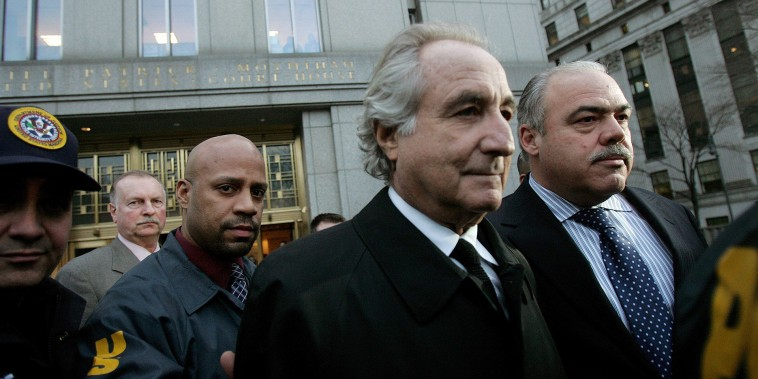 Image: Bernard Madoff, the financier who ran the largest Ponzi scheme in history, has died of natural causes in federal prison.