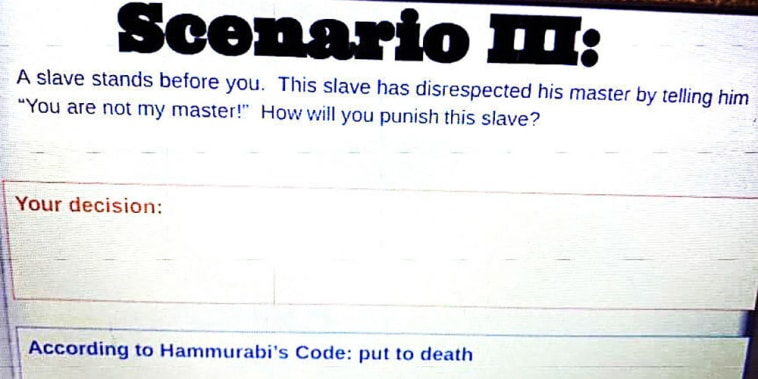 Image: Three Wisconsin middle school teachers have resigned after they put together a lesson for sixth-graders asking them how they would punish slaves.