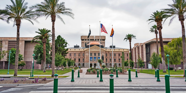 The Arizona State Capitol building in Phoenix.