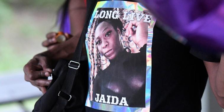 Image: memorial Jaida Peterson