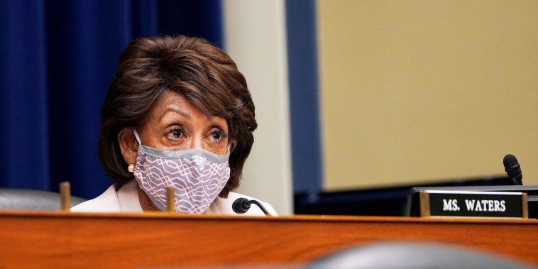 Rep. Maxine Waters, D-Calif., speaks during a House Select Subcommittee hearing on the Capitol Hill on April 15, 2021.
