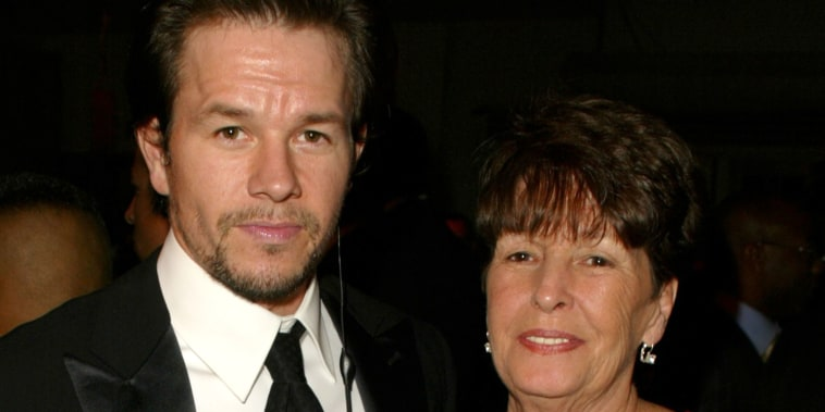 Mark Wahlberg and his mother Alma