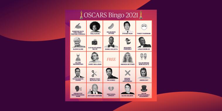 Oscars TODAY bingo