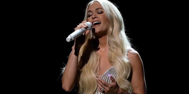 Image: Carrie Underwood performs at the 56th annual Academy of Country Music Awards