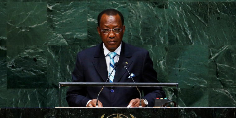 Image: Idriss Deby Itno, President of the Republic of Chad, addresses the 69th United Nations General Assembly at the U.N. headquarters in New York