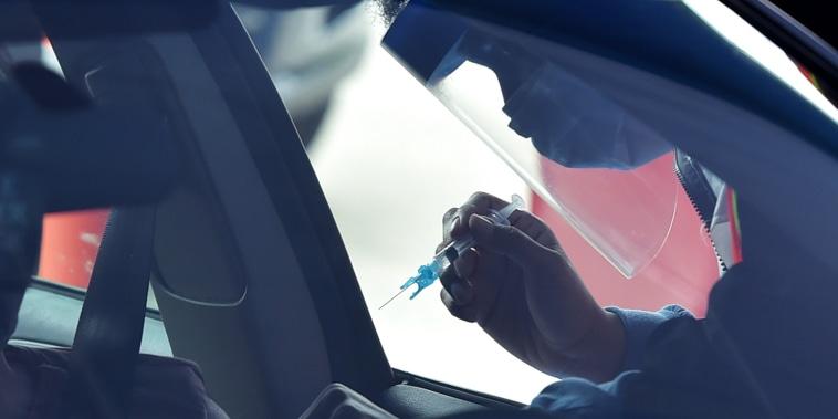 Drive-thru Johnson & Johnson vaccine in Delaware County PA