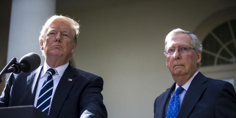 Image: Donald Trump and Mitch McConnell