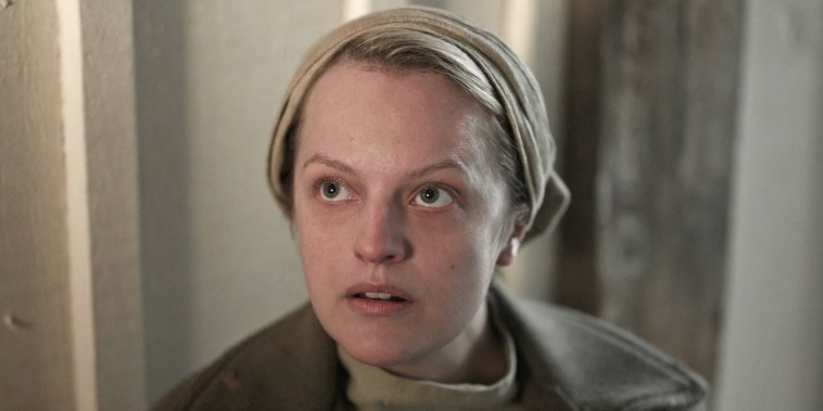 """Elizabeth Moss stars as Offred in the second episode of the fourth season of Hulu's \""""The Handmaid's Tale.\"""""""