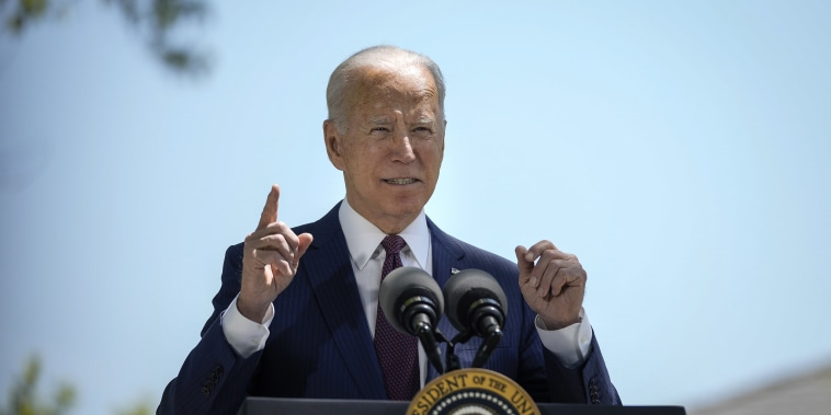 Image: President Joe Biden speaks about updated CDC mask guidance on the North Lawn of the White House