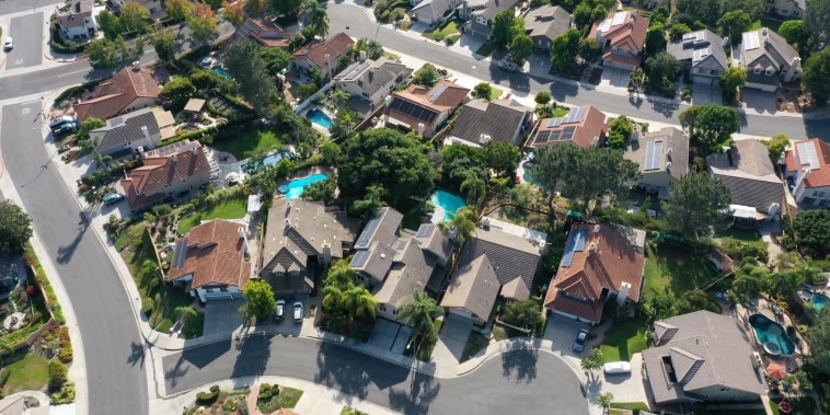 Single-family homes in San Diego, Calif., on Sept. 1, 2020.