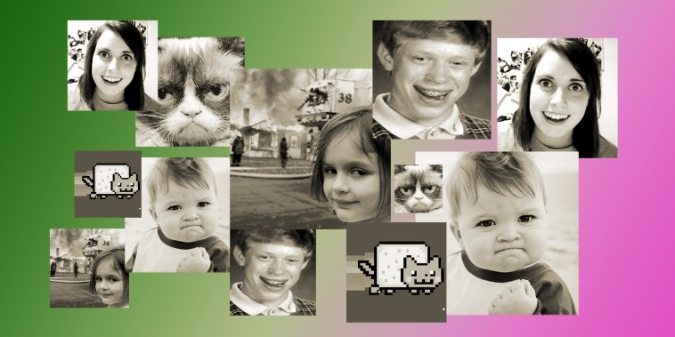 """A  slew of memes have recently been made into NFTs. They include Laina Morris' """"Overly Attached Girlfriend,"""" Tabatha Bundesen's """"Grumpy Cat,"""" Kyle Craven's """"Bad Luck Brian,"""" Laney Griner's """"Success Kid,"""" Chris Torres' """"Nyan Cat"""" and Zoe Roth's """"Disaster Girl."""""""
