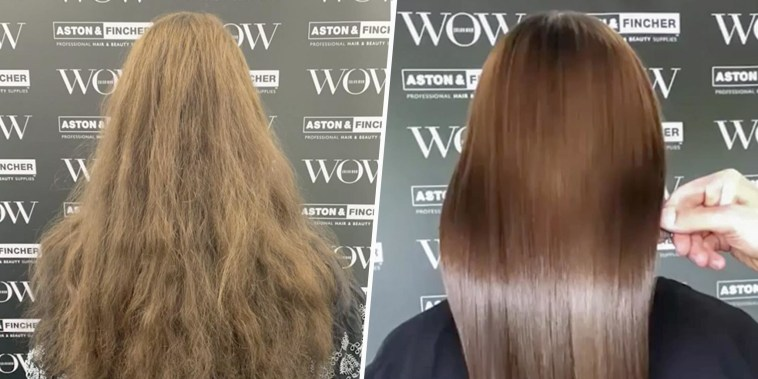 Before and After Illustration of a Woman who used Color Wow products