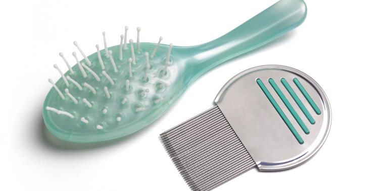 Nit comb and brush