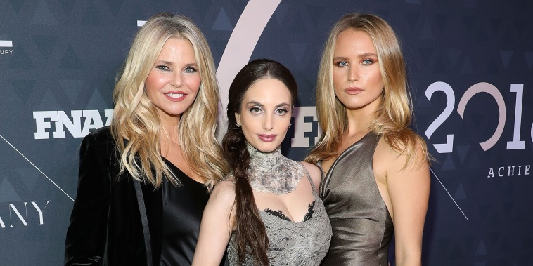 Christie Brinkley, Alexa Ray Joel, and Sailor Brinkley-Cook attend the 2018 Footwear News Achievement Awards at IAC Headquarters on December 4, 2018 in New York City.