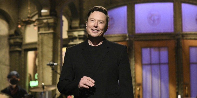 Host Elon Musk during the monologue on Saturday, May 8, 2021.