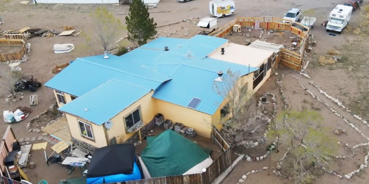 The Saguache  Sheriff's department says the cause of death has not yet been determined but it does not appear that foul play was involved after a woman known to be a spiritual leader was found mummified at this residence in Moffat, Colo. on May 5, 2021.