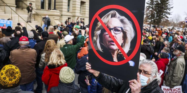 Image: Rep. Matt Gaetz (R-FL) Travels To Wyoming For Rally Against Wyoming Rep. Liz Cheney