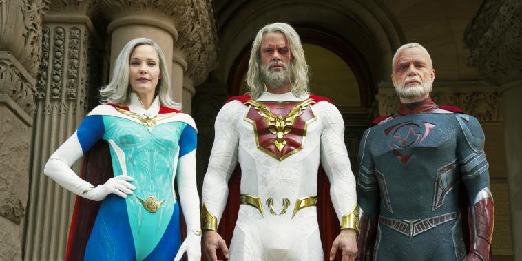 Netflix series Jupiter's Legacy stars Leslie Bibb, Josh Duhamel and Ben Daniels.