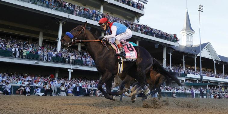 Image: FILE: Kentucky Derby Winner Medina Spirit Tests Positive For Elevated Drug Levels