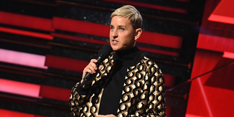 Image: Comedian Ellen DeGeneres onstage during the 62nd Annual Grammy Awards.