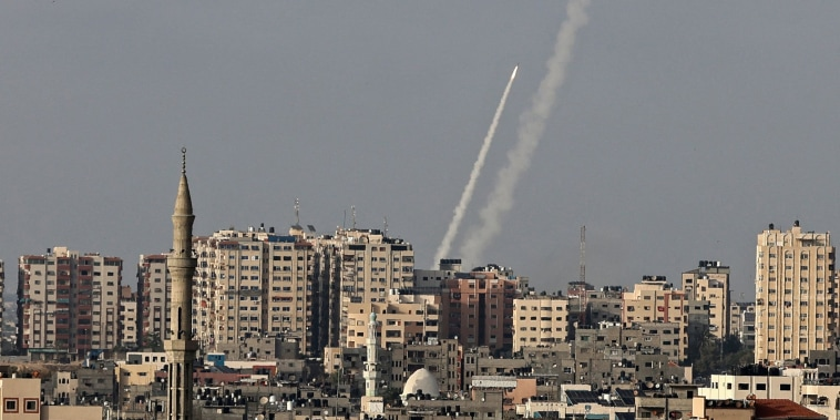Image: Rockets fired from Gaza City