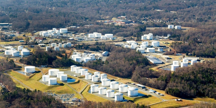 Colonial Pipeline's tank farm in Charlotte, N.C.
