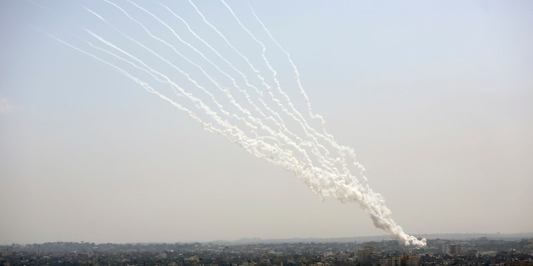 Image: Rockets are launched from Gaza Strip to Israel,