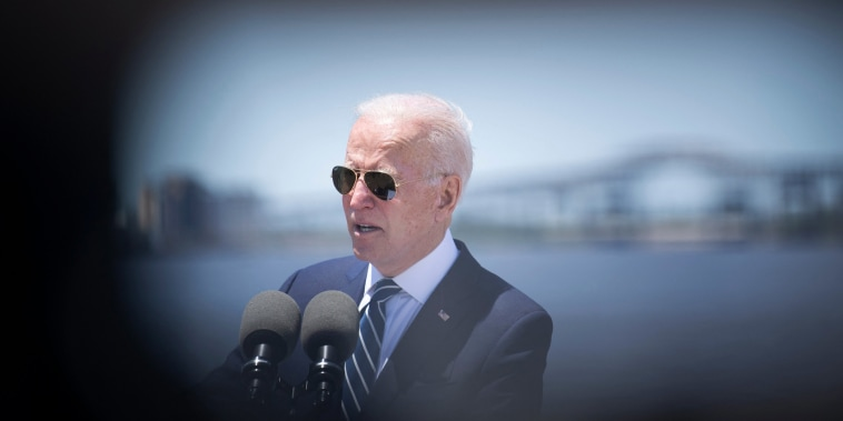 President Joe Biden speaks about infrastructure and jobs on May 6, 2021, in Westlake, La.