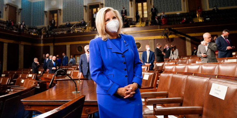 Image: Representative Liz Cheney before he addresses a joint session of Congress at the U.S. Capitol